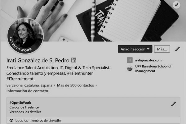 Nueva opción de linkedin para encontrar trabajo, #OpenToWork - IT Recruitment & Talent Acquisition Freelance